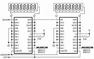 Many Max7219 Can Be Cascadedserially Through Dout Pin Of