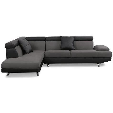 canapé simili scoop canapé d 39 angle gauche en simili et tissu 4 places