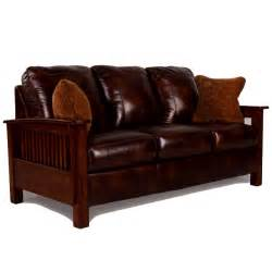Stickley Leather Reclining Sofa by Living Room Furniture Mission Furniture Craftsman