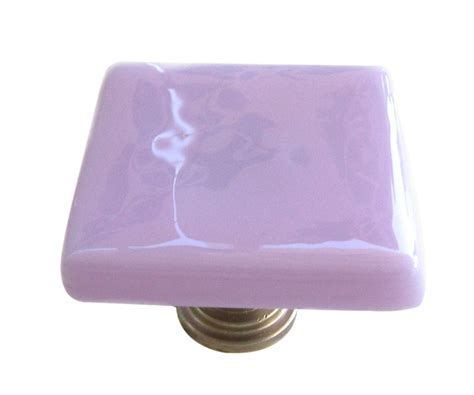 Lavender Fused Glass Cabinet Knob (#k1167) by Uneek Glass