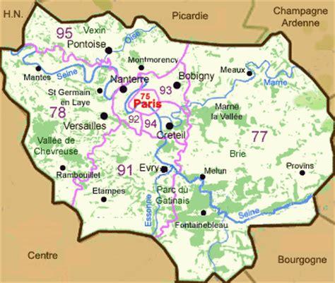 Carte Departement Parisien by Infos Sur Departement Region Parisienne Arts Et Voyages