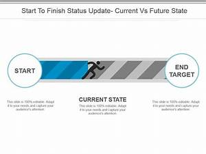 Start To Finish Status Update Current Vs Future State Ppt Images