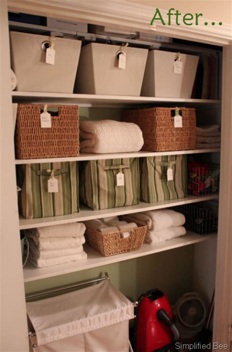 Stylish & Organized Linen Closetbefore & After