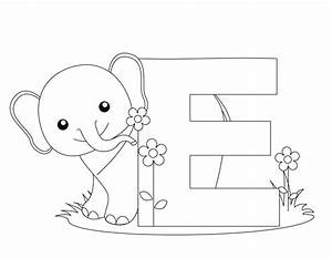 preschool worksheets to print animal alphabet letter e With color alphabet photography letters