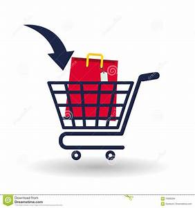 Shopping Cart Icon Over White Background Stock Vector ...