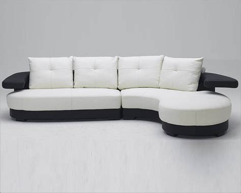 black and white leather sofa set black and white ultra modern full leather sectional sofa