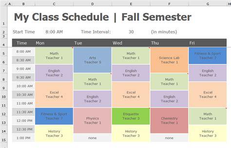 school schedule template back to school transform class schedule to pivottable