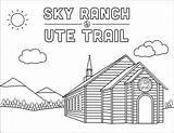 Ute Sky Ranch Coloring Trail Camps Skyranch sketch template