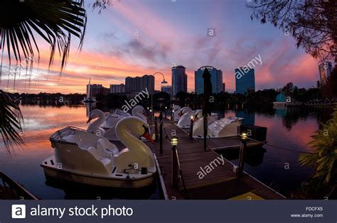 Paddle Boats Orlando Florida by Lake Eola Swan Boats Florida Stock Photos Lake Eola Swan