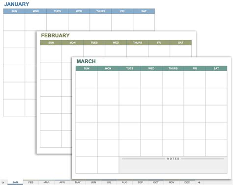 Calender Template Free Excel Calendar Templates