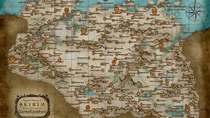 Explore Skyrim With An Enormous Printable Map Push Square