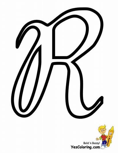 Letter Alphabet Coloring Pages Cursive Outs Letters