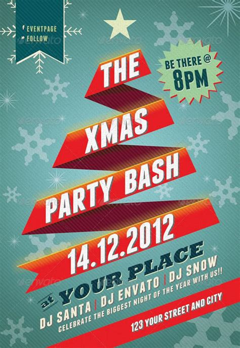 beautiful christmas posters  flyer design templates
