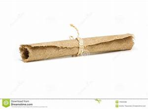 Hemp paper scroll stock photo. Image of damaged, paper ...