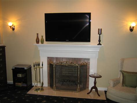 Clinton Ct Mount Tv Above Fireplace Home Theater