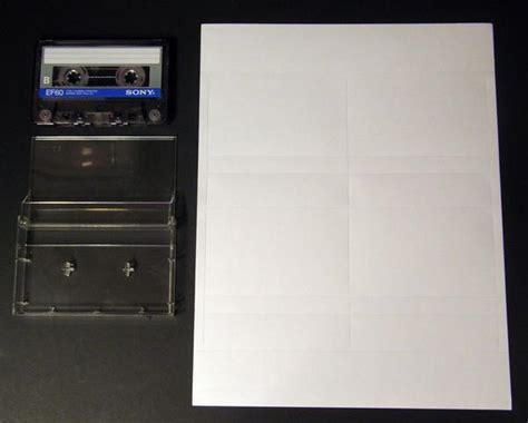 audio cassette inserts printable blank  cards inkjet