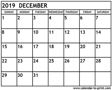 december  calendar  word excel templates