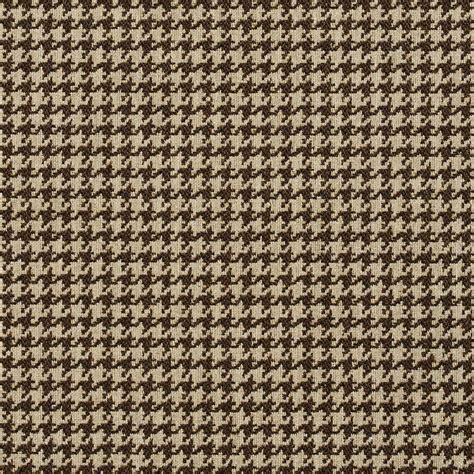 Classic Upholstery Fabric by E852 Taupe And White Classic Houndstooth Jacquard