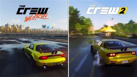 the crew 1 the crew run vs the crew 2 early graphics sound