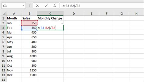 Percent Change Formula In Excel