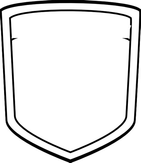 blank soccer crest templates blank shield soccer clip art at clker vector clip
