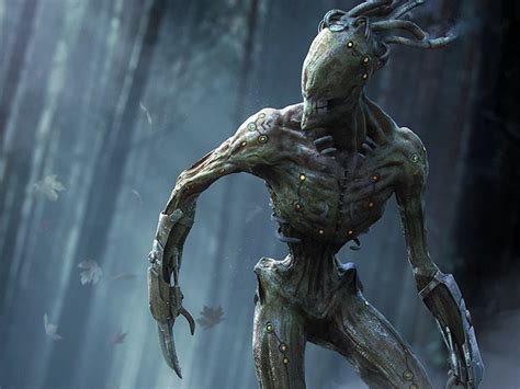 The Menk: Creepy Creature Design by Oliver Wetter on Dribbble