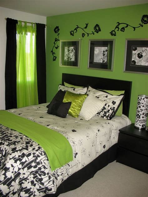 check    fresh  bright lime green bedroom