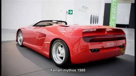 ferrari prototype cars 1226 ferrari mythos 1989 prototype car youtube