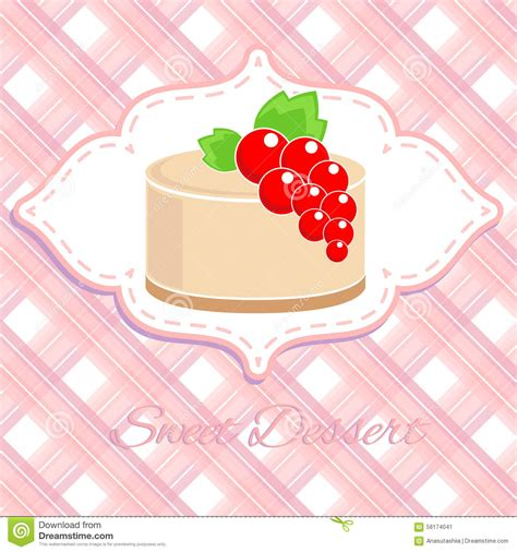 label doux de dessert avec la groseille illustration
