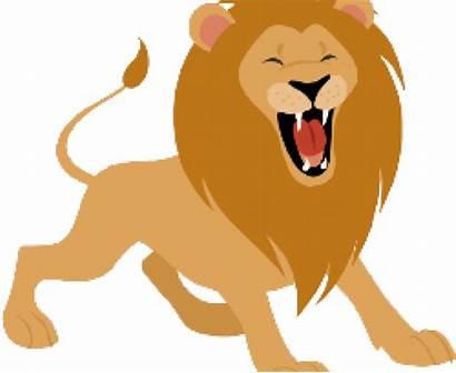 Lion Roaring Clipart Brave King Cartoon Transparent