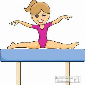 Gymnastics Clipart Clipart- gymnastics_girl_balance_beam ...