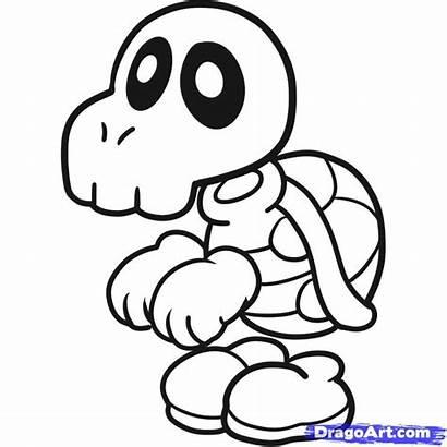 Bones Mario Dry Coloring Pages Super Draw