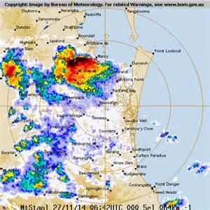 bureau weather radar photo shows storms brisbane abc