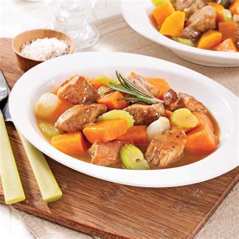 patate douce cuisine mijoté de porc à la patate douce recettes cuisine et nutrition pratico pratique