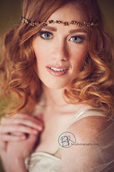 brc photography redhead blue eyes makeup pin curls