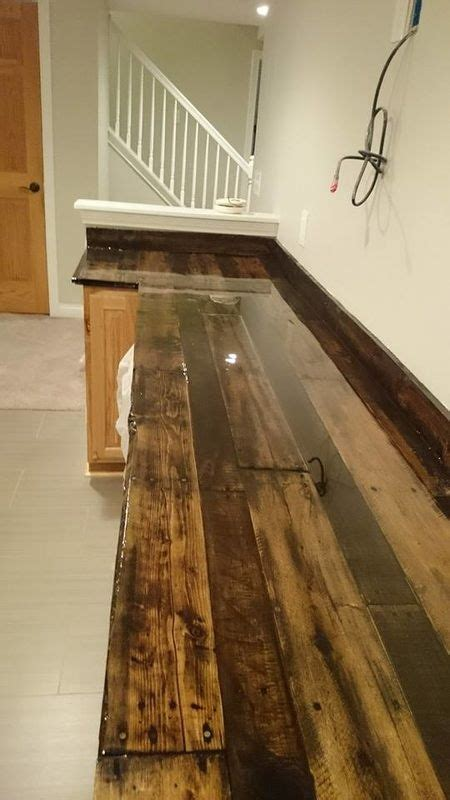 reclaimed kitchen island 30 rustic countertops that add coziness to your home