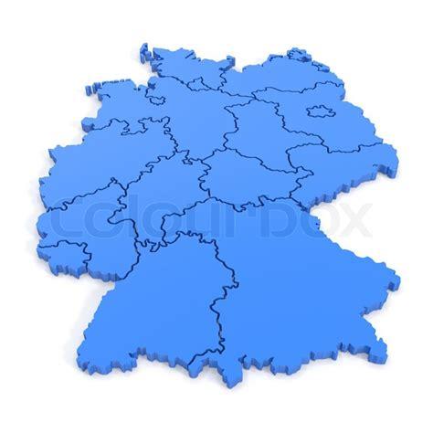 karte von deutschland  blau stockfoto colourbox