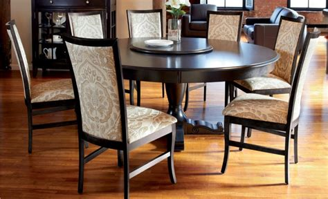 round table dinette sets round dining table set with leaf homesfeed