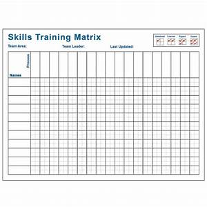 skills training matrix 36x48 visual workplace inc With safety training matrix template