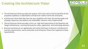 learn togaf 91 in 100 slides With togaf architecture vision template