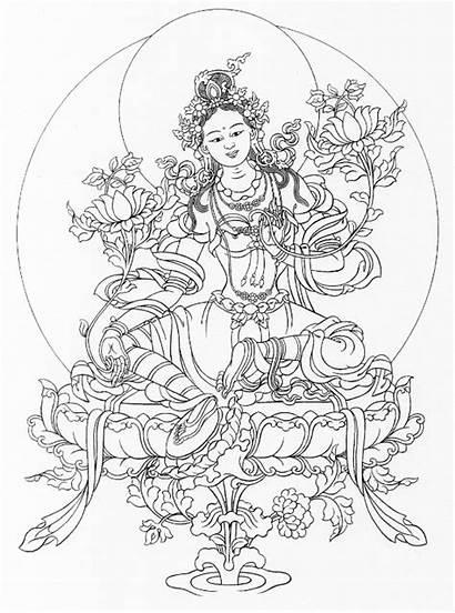 Tara Mandala Buddha Kleurplaten Coloring Tattoo Jing