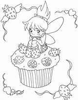 Coloring Cupcakes Cupcake Pages Cute Fairy Printable Strawberry Drawing Print Colouring Bestcoloringpagesforkids Desserts Sweets Cartoon Cup Sheets Getdrawings Hard Birthday sketch template