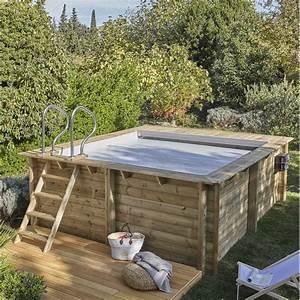 piscine hors sol bois urbaine l35 x l42 x h133 m With leroy merlin bache piscine 2 terrasse jardin amenagement exterieur et piscine leroy