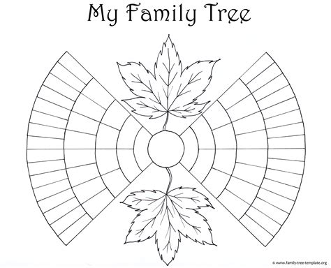 Blank Family Tree Template For by Family Tree Template Resources