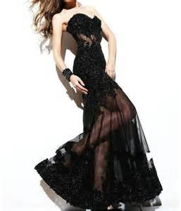 dresses for formal wedding black applique evening gown formal prom dress wedding gown 2052631 weddbook