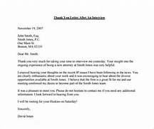 After Second Interview Thank You Letter Samples Thank You Email After Interview 17 Free Word Excel PDF Format