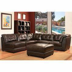 Costco calvin leather 5 piece modular sectional for 5 piece modular sectional sofa costco