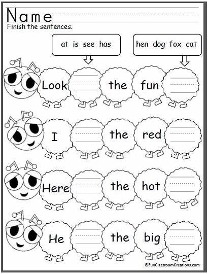 Sentences Sight Word Sentence Words Worksheets Building