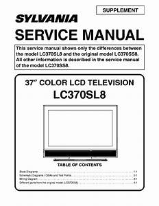 Sylvania Lc370sl8 Lcd Tv Sm Service Manual Download