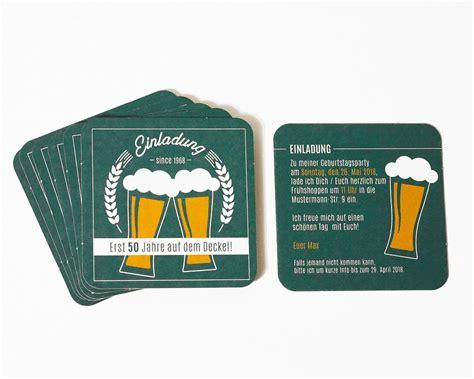 einladung geburtstag bierdeckel personalisiert
